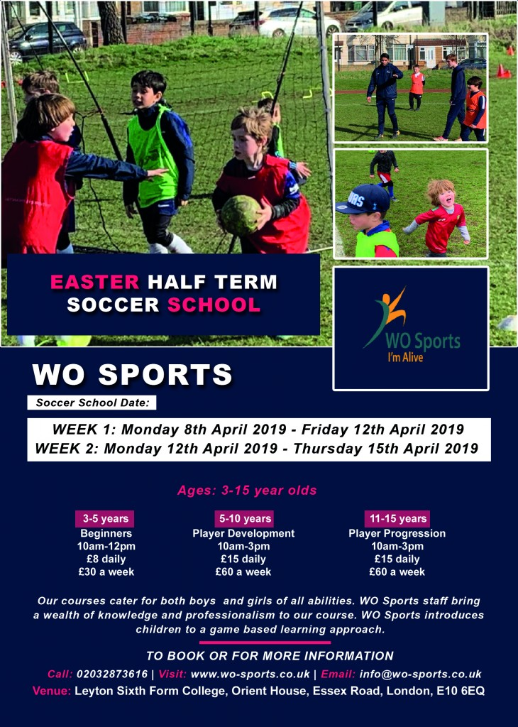 April Halfterm Holidays 2019